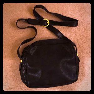 Italian Salvatore Ferragamo Leather Shoulder Bag